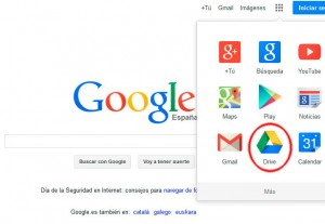 entrar a google drive desde incio de google